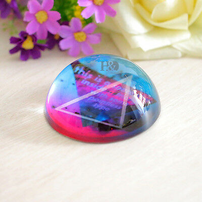 Triangle Design Cut 80MM Half-ball Paperweight Office Decor Beauty Gift 1pc