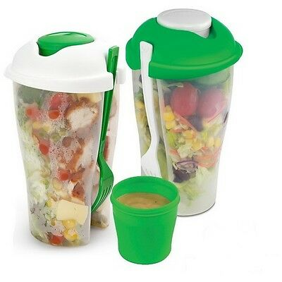 Salad To Go Fresh Salad All In One Salad And Dressing Containers With Fork