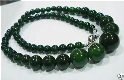 6-14mm natural emerald gemstone necklace 18""