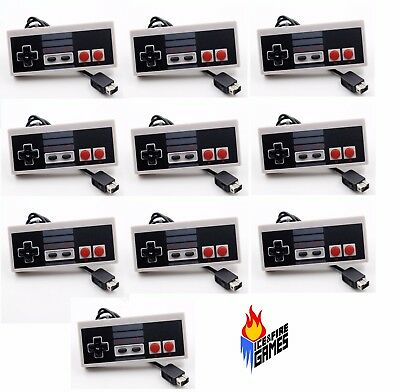 Lot of 10 New Nintendo NES Style Classic Controllers for New NES Mini Console