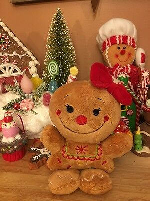 Gingerbread Scented Plush Tree Ornament Dan Dee Retired Collectable Candy Cane