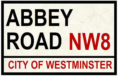 Street / Road Signs (Abbey Road) - Souvenir Novelty Fridge Magnet - New / Gifts