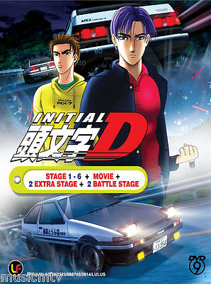 DVD Anime Initial D Stage 1-6 + Movie +2 Extra Stage + 2 Battle Stage (Eng SUB)