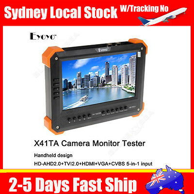 "X41TA 7"" LCD Monitor HD-TVI+AHD+HDMI+VGA+CVBS Camera Test Video CCTV Tester BS1"