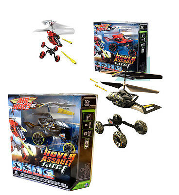Hover Assault Eject Helicopter Remote Controlled Air Hogs Battery Flying RC Toy