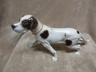 "Great Dane Porcelain Figurine Made in Italy (307 on bottom) 15"" L X 10"" H"