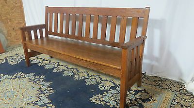 Oak Mission Bench Pew Unusual