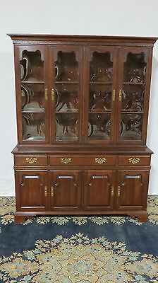 Ethan Allen Hutch Cupboard China Cabinet Cherry