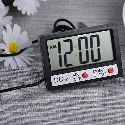 Mini LCD Digital Hygrometer & Temperature Tester Indoor Outdoor Clock Instrument