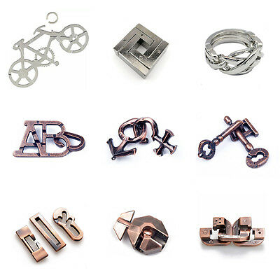 Cast Metal Clover Puzzle Game IQ Mind Brain Teaser For Adults Children