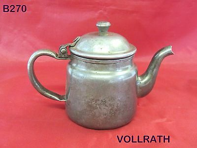 Vintage Vollrath Company Stainless Steel Pitcher Creamer Tea Pot Usa Rare Piece