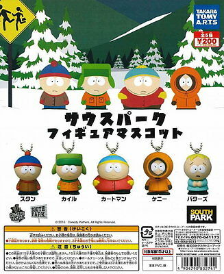 Takara Tomy South Park Figure Mascot Collection Completed Set 5pcs