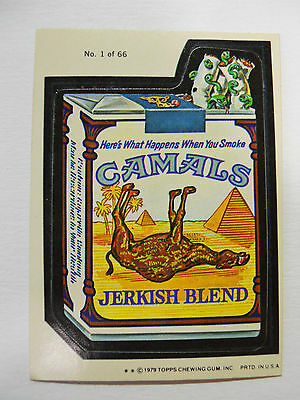 VINTAGE! 1979 Topps Wacky Packages Trading Card #1-Camals-Camel