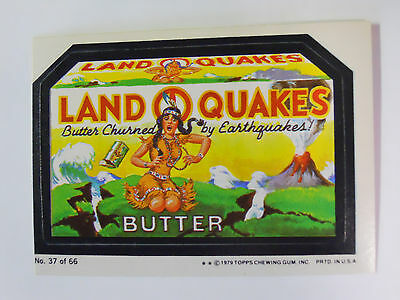 VINTAGE! 1979 Topps Wacky Packages Trading Card #37-Land O Quakes-Land O Lakes