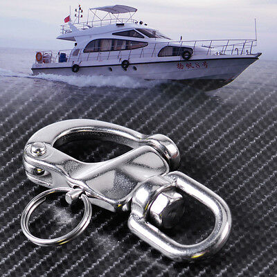 Stainless Steel Snap Shackle Swivel Bail Marine Boat Yacht Sailing Hardware Ring