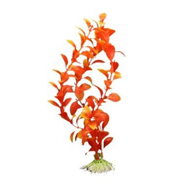 Orange Artificial Water Plants for Fish Tank Plastic Decoration Ornament BT