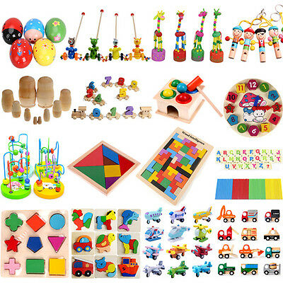 Baby Kid Children Intellectual Developmental Educational Game Wooden Toy Gift S5