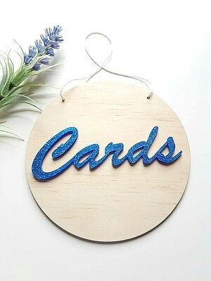 Cards Sign MADE IN AUSTRALIA Acrylic Wood Wedding Engagement Christening Event b