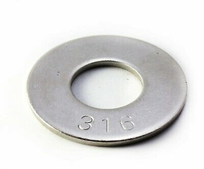316 Stainless Steel Flat Washer 1/4 ID x 0.625 OD , Qty 100 pcs Pack