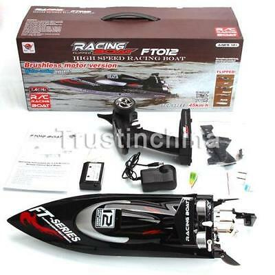 Feilun FT012 4CH 2.4G Brushless Water Cooling High Speed Racing RC Boat UK!
