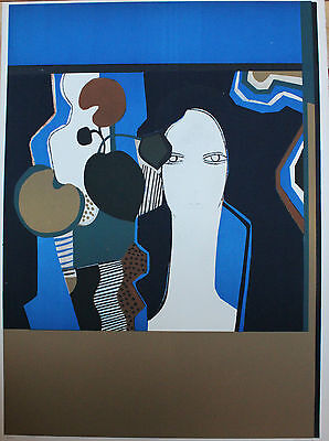 Andre Minaux Original Silkscreen / Serigraph Hand Signed Numbered Claudine