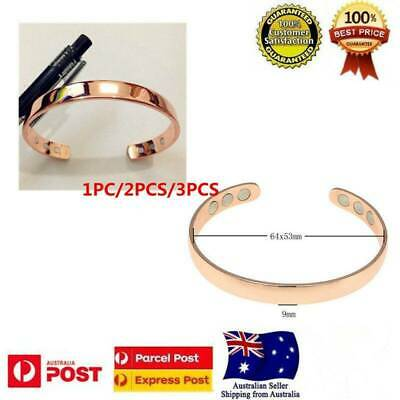 Pure Copper  Bracelet Therapy New Cuff Bangle Magnets  Magnetic Unisex
