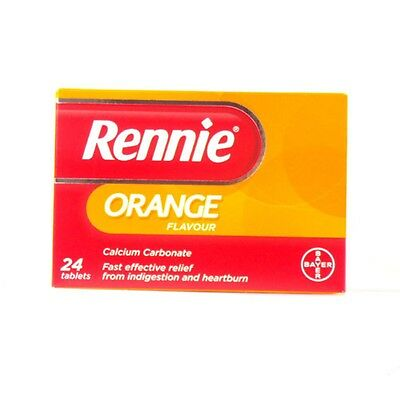 Rennie Orange Chewable Tablets - Pack of 24 Tablets