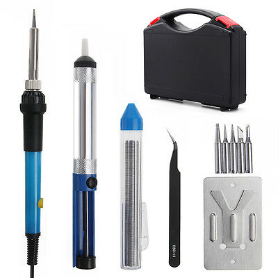 110V/220V 60W Electric Soldering Iron Kit Adjustable Temperature Welding Tool
