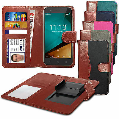 For BLU Studio C Super Camera - Clip On Fabric / PU Leather Wallet Case Cover