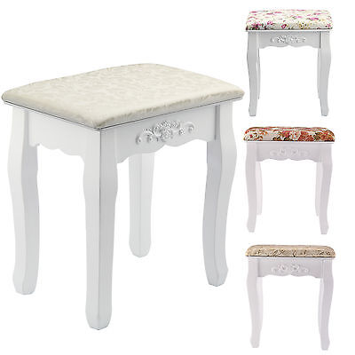 New Vintage Dressing Table Stool Soft Padded Piano Room Chair Rest Makeup Seat