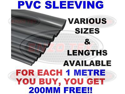 Flexible PVC BLACK Cable Sleeving / Tubing - Wiring Harness All Sizes & Lengths