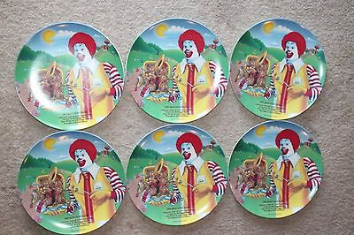 Lot of 6 Vintage 1989 McDonald's THE MCNUGGET BAND Ronald Collectors Plate