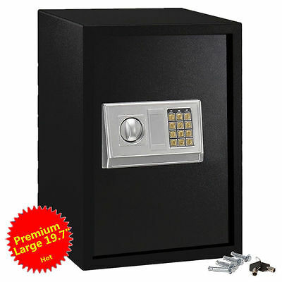Large Digital Electronic Safe Box Keypad Lock Security Home Office Hotel Gun BY