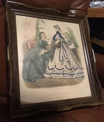 large victorian deep well shadow box picture frame fits 17 x 15 paris print