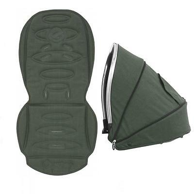 Oyster Max / Max 2  LIE FLAT Tandem Seat Colour Hood & Seat Liner OLIVE GREEN