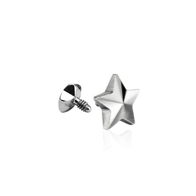 Dermal Anchor - Screw Top Piercing Aufsatz Micro Kugel Stern Skin Diver #363