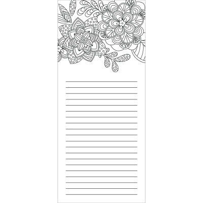 "Coloring Notepad 4""X9"" 40 Sheets Urban 1925-7"