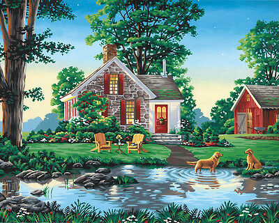 "Paint Works Paint By Number Kit 20""X16"" Summer Cottage 91433"