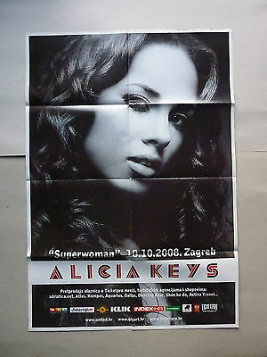 Alicia Keys / 10.10.2008 / Zagreb / Original Croatian Concert Poster