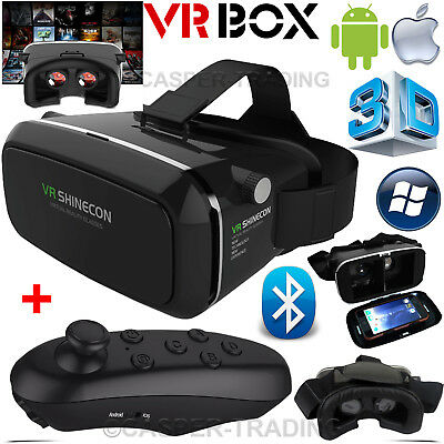 Virtual Reality 3D VR Box Shinecon Headset Glasses for iPhone Android+Remote UK