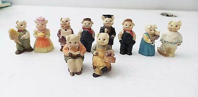 Vintage Lot of Miniature Pig Piggy Piglet Farm Sow Figurines Animals 2