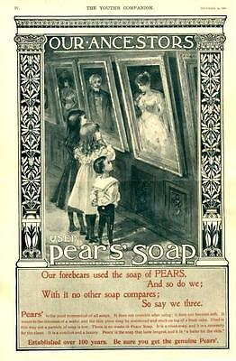 Pears' Soap  -  Our Ancestors Used Pears Soap  -  Original Advertisement  - 1897