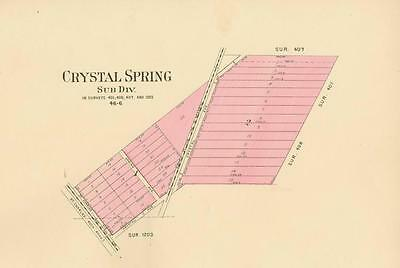 Map of Crystal Spring, Missouri   -   St. Louis County, Missouri  -  1909