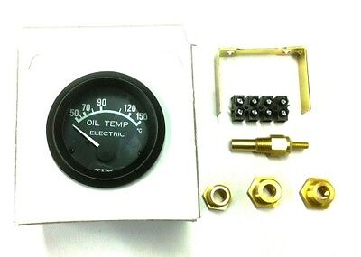 Tim Electric Oil Temperature Gauge Kit 52mm Sender, fittings & unions (700014)