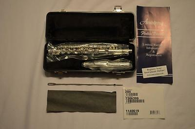 New - Armstrong Student Piccolo 204 - Cylindrical Silver Plated, .016 Wall Tube