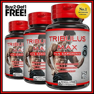 TRIBULUS TERRESTRIS EXTRACT 7500mg CAPSULES 96% SAPONINS TESTOSTERONE BOOSTER