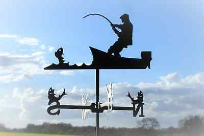 Standard Fisherman Metal Weathervane (Vertical Fixing Bracket)