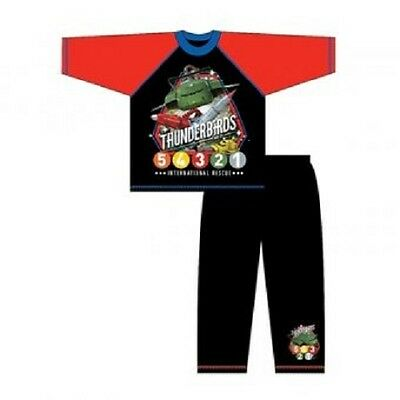 Official Thunderbirds Pyjamas PJs Long Sleeve & Leg With Ankle Motif Size Age