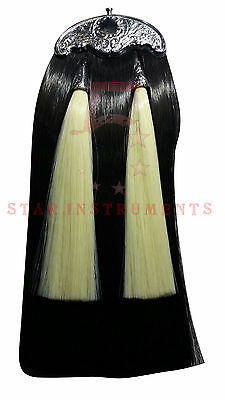 New Kilts Piper Sporran Artificial Horse Hair With White Tassels Thistle Cante