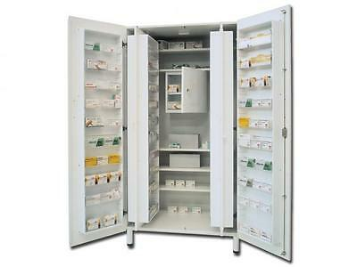 Cabinet Drugs Bilaminate With 5 Shelves 48 Compartments Portafamarci 100X60X195H